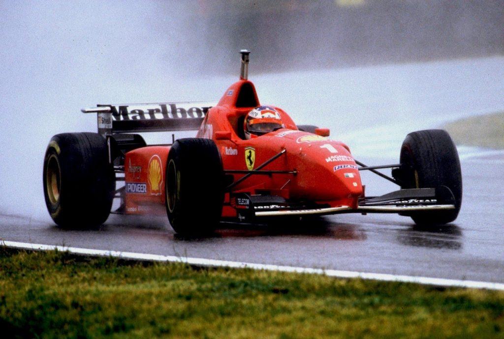 Schumacher-Spagna-1996-prima vittoria Schumi-Ferrari