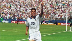 Roberto Baggio rigore alla Nigeria