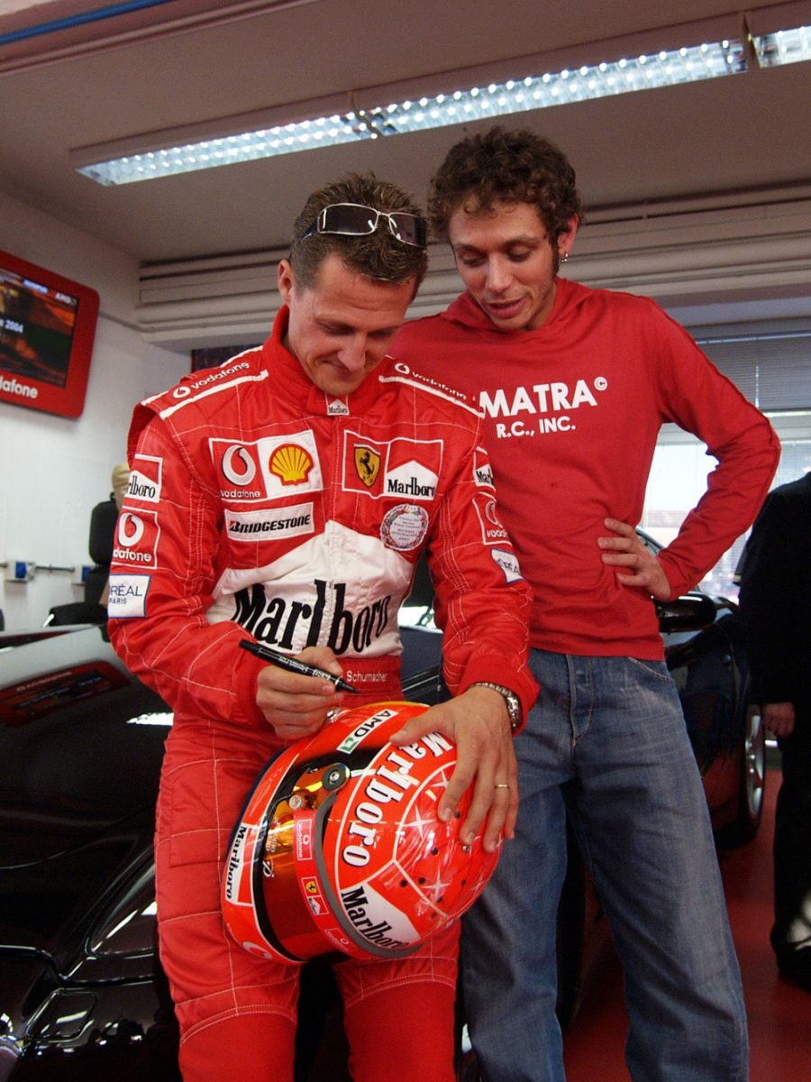 Valentino Rossi e Michael Schumacher
