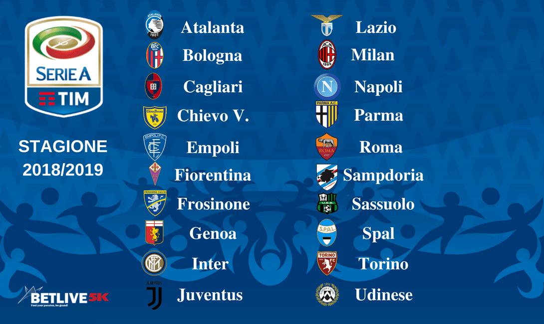 Calendario Milan Campionato.Italia Serie A Stagione 2018 2019 Calendario Betlive5k