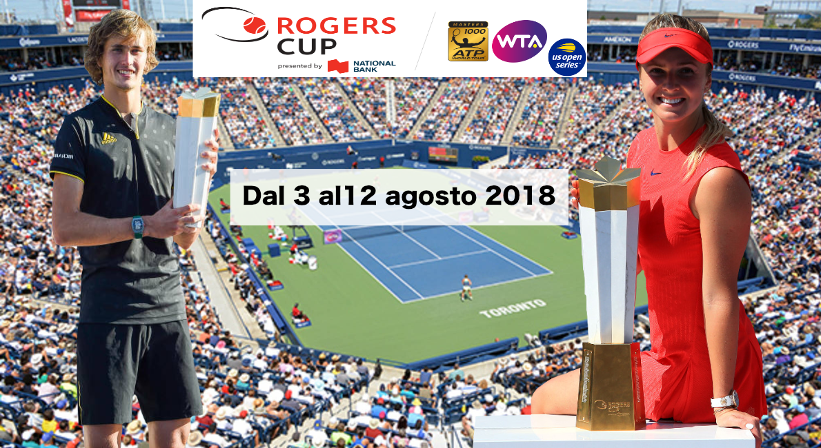 ATP e WTA Roger Cup 2018 Toronto senza king Roger