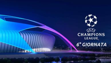 champions league 6° giornata gruppi