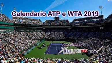 Calendario tennis ATP e WTA 2019