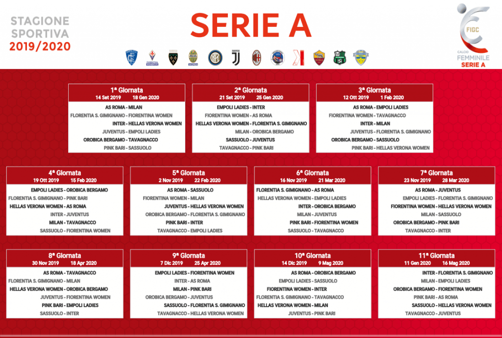 Calendario Serie A 30 Giornata.Calendario Serie A Calcio Femminile Betlive5k It Blog