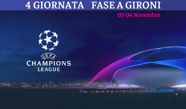 4°GIORNATA - FASE A GIRONI-champions-league-newbetlive5k.it