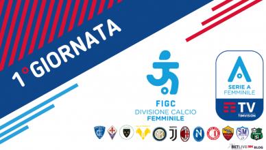 1°GIORNATA-SERIE-A-FEMMINILE-CALCIO-NEWBETLIVE5K.IT