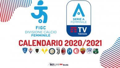 CALENDARIO 2020_2021 SERIE A FEMMINILE BETLIVE5K