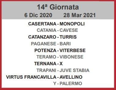 Calendario Lega Pro 2020-2021 - Girone C