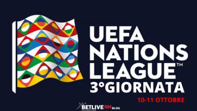 3°GIORNATA UEFA NATIONS LEAGUE 10 E 11 OTTOBRE BETLIVE5K