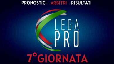 7°GIORNATA LEGA PRO GIRONE C PRONOSTICI - ARBITRI - RISULTATI BETLIVE5K