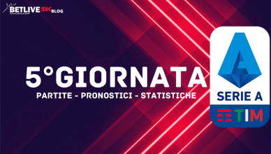 PARTITE - PRONOSTICI - STATISTICHE 5°GIORNATA BETLIVE5K
