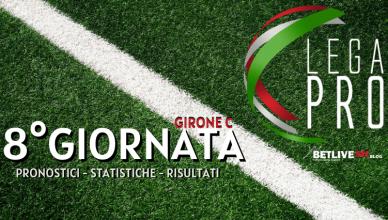 PRONOSTICI - STATISTICHE - RISULTATI 8°GIORNATA GIRONE C DI SERIE C BETLIVE5K