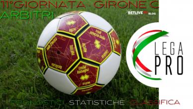 11°GIORNATA - GIRONE C ARBITRI- PRONOSTICI-CLASSIFICA-BETLIVE5K