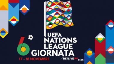 17 - 18 NOVEMBRE 6°giornata di UEFA NATIONS LEAGUE BETLIVE5K