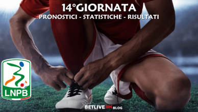 PRONOSTICI - STATISTICHE - RISULTATI-14°GIORNATA-SERIE-B-BETLIVE5K