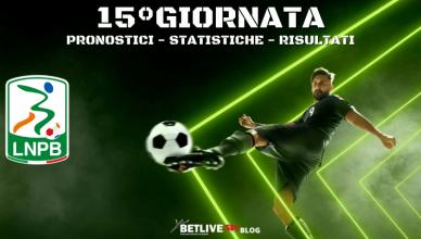 PRONOSTICI - STATISTICHE - RISULTATI-15°GIORNATA-SERIE-B-BETLIVE5K