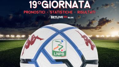 PRONOSTICI - STATISTICHE - RISULTATI- SERIE-B-19GIORNATA-BETLIVE5K