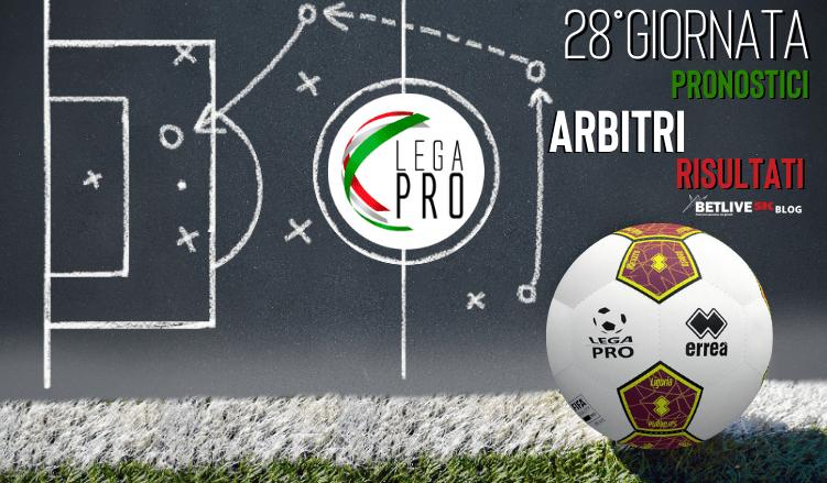 ARBITRI-PRONOSTICI-RISULTATI-28GIORNATA-LEGA-PRO-GIRONE-C-BETLIVE5K