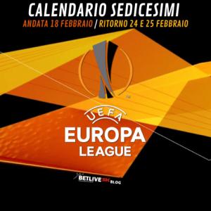 CALENDARIO SEDICESIMI-EUROPA-LEAGUE- BETLIVE5K