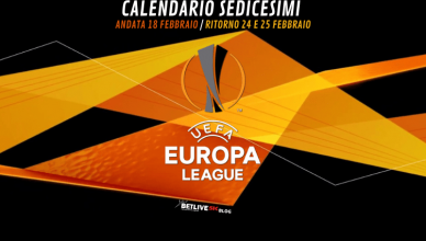 CALENDARIO SEDICESIMI-EUROPA-LEAGUE- BETLIVE5K