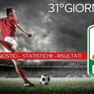 PRONOSTICI - STATISTICHE - RISULTATI- SERIE-B-31GIORNATA-BETLIVE5K