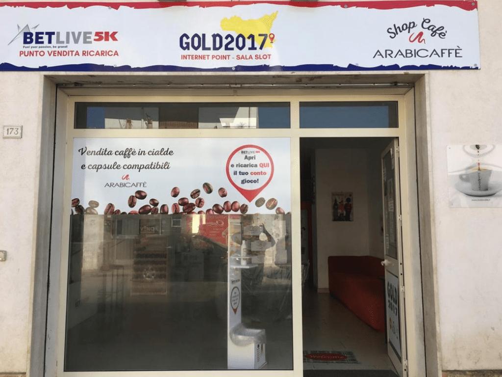 GOLD 2017 VIA NAZIONALE, 173 CASSIBILE - SIRACUSA PUNTO VENDITA RICARICA BETLIVE5K vendita caffè Arabicaffè