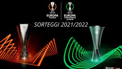 SORTEGGI 20212022 EUROPA LEAGUE-CONFERENCE-LEAGUE-BETLIVE5K